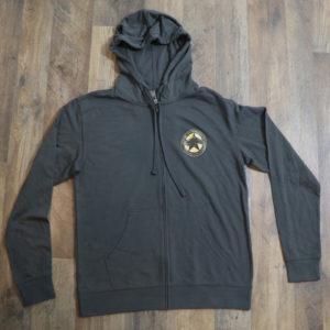 Dark Horse Logo Full Zip Hoodie Grey