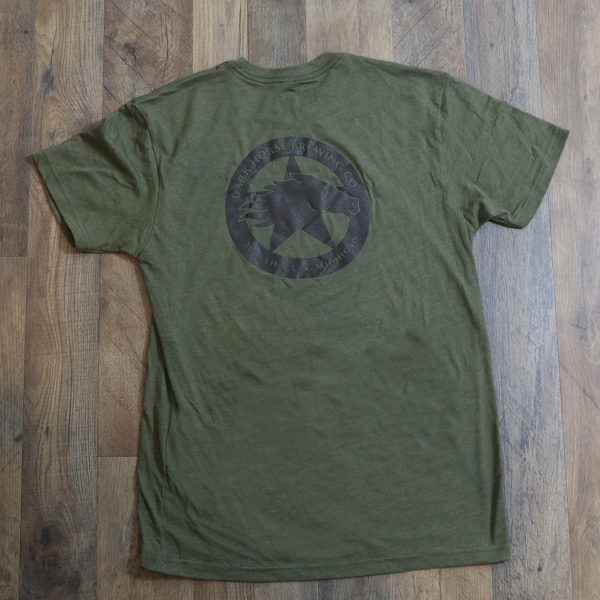 Green TShirt Logo on Back